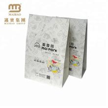 Umweltfreundlicher kundenspezifischer Keks-Snack Food Brown-Kraftpapier-Verpackungs-Tasche für für Kuchen und Plätzchen