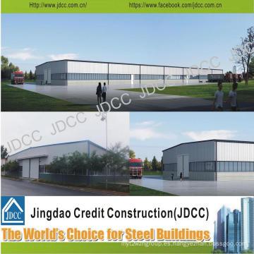 Taller de estructura de acero de chapa de acero color galvanizado