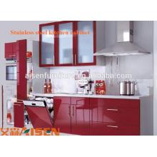 Armário de cozinha de aço inoxidável sus 304 de alta qualidade com design colorido