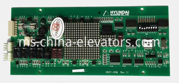 Hyundai Elevator LOP Display Board HDOT-101M Rev1.1