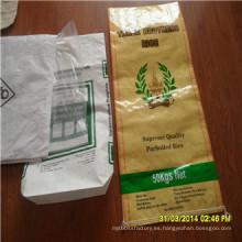 Bolso tejido China del arroz de los alimentos de la Virgen BOPP PP de la fábrica del fabricante de Shandong