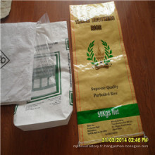 Chine Shandong fabricant usine Virgin Food BOPP PP tissé sac de riz