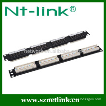 24 port UTP cat5e rj45 patch panel