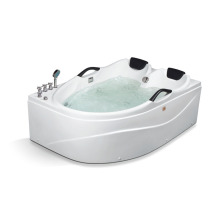 Sector Shape Two Person Massage Bathtub