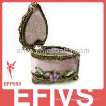 Caja de joyería decorativa tradicional al por mayor para los anillos