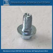 Blue White Zinc Plated Triangular Thread Self Tapping Screw