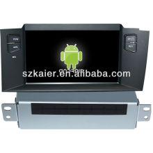 Android System lecteur dvd de voiture pour Citroen C4L avec GPS, Bluetooth, 3G, ipod, jeux, double zone, contrôle du volant