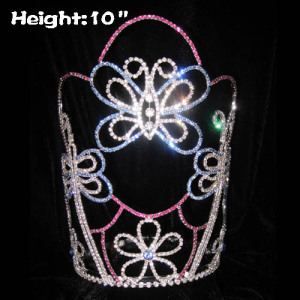 10inch Butterfly Shaped Wholesale Beauty Crowns