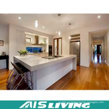 Armarios de cocina duraderos de alto brillo para cocina pequeña (AIS-K258)
