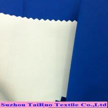 Tejido 100% poliéster revestido lechoso de Taslon para la ropa