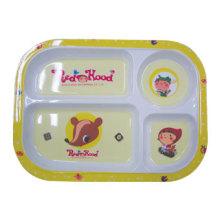100% меламин посуда - Серия детские детские делится плиты/ (MRH18001) подарки ребенка