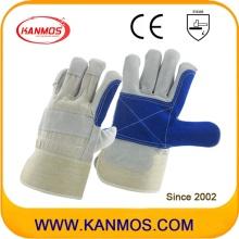 アンチスクラッチブルー工業用ハンドセーフティ牛革レザー作業手袋(110161)