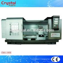 Machine de découpe cnc occasion en fonte lit de chariot long CK61100E