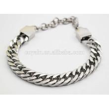 Corchete de langosta pulsera de plata de los hombres del acoplamiento de la cadena los 25cm