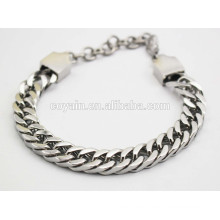 Lobster clasp 25cm silver chain link men's cool bracelets