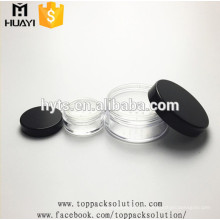 pot de poudre en plastique vide de bonne qualité avec tamis