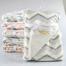 Nouvelle cape de couverture d'enfant de couverture de bébé de douille superbe superbe de double-couche