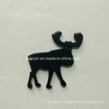 Aluminum Alloy Deer / Moose Animal Shape Bottle Opener Keychain with Customized Logo for Promotion