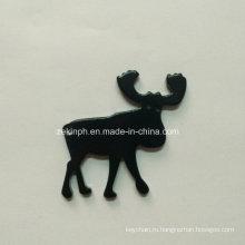Aluminum Alloy Deer / Moose Animal Shape Bottle Opener Keychain with Customized Logo for Promotion
