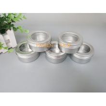 80g frasco de alumínio com tampa do parafuso da janela do animal de estimação (PPC-ATC-80)