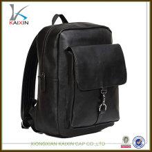 New 100% real soft genuine leather strap laptop bag men backpack