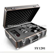 Inserir caixa de fotografia de alumínio forte com espuma personalizado