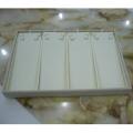 Роскошный крем из искусственной кожи PU ювелирные изделия дисплей ожерелье лоток (TY-4ST-BL)