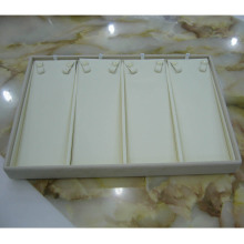 Luxury Cream Leatherette PU Jewelry Display Necklace Tray (TY-4ST-BL)