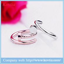Металлическое расщепленное кольцо дизайн открытые кольца для ногтей ювелирные изделия мода моделирование кольцо yiwu