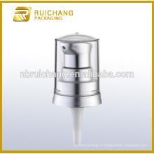 Pompe à lotions en plastique à revêtement UV avec pompe à crème cosmétiques AS overcap pour bouteille