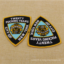 Atacado barato tecido personalizado tecido bordado Badge