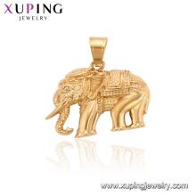 34200 xuping banhado a ouro animal elefante pingente charme jóias