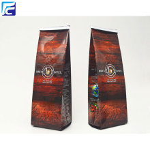 Foil roasted coffee beans packaging bags with valve