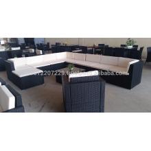 Wicker Outdoor / Gartenmöbel - Großes Lounge-Set