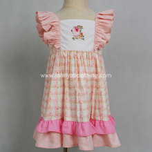 latest design boutique dress pink dress for girl