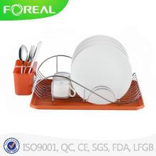 Nuevo diseño cromado soporte de plato del alambre de Metal