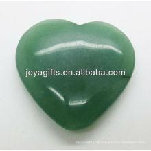 Natürliche grüne aventurine Herzform 35MM