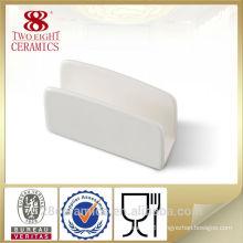 White ceramic napkin holder