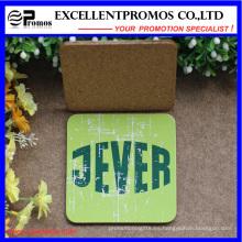 Promoción Impresión Personalizada Coaster de calidad superior del corcho superventas (EP-C57302)