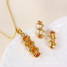 Xuping Newest Gold Plated Fashion Women Jewelry Set