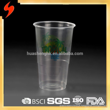 Alta qualidade padrão 6 oz descartável de plástico potável pp copo