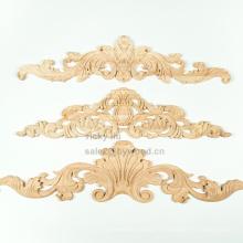 Décoration de style européen sculpté onlay en bois exquis