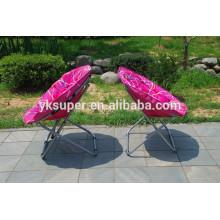 Cadeira de lua dobrável portátil ao ar livre de luxo