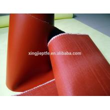 Imperméable et ignifugé en caoutchouc de silicone revêtu de fibre de verre