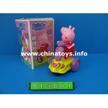 New Pink Pig Cartoon Electric Car Plastic Peppa Pig Toys (915801)