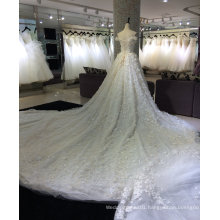 Princess Champagne Wedding Dress with 3 Meter Train