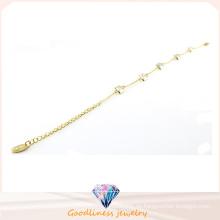 Großhandelspreis-Art- und Weisegold überzogene Schmucksachen mit Kristall-Edelstahl-Bracrlet Bt6642
