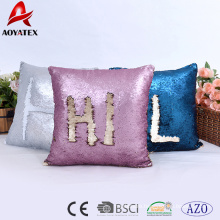 Fashion letter pattern design two tone sequins home decorative cushion, sofa cushion