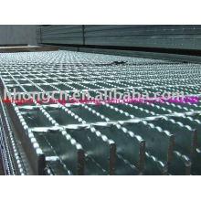 Revêtement de sol en grille en acier, revêtement de sol à grille de type serrure, plancher en tôle d'acier de type Bar