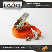 100% polyester cargo lashing tie down ratchet strap